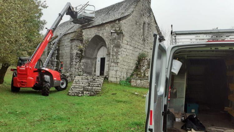Inspection de la charpente de la chapelle